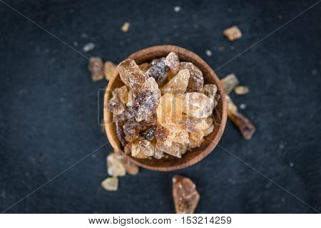 Portion Of Brown Rock Candy