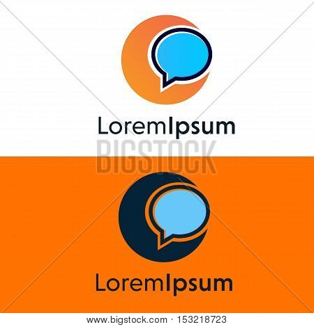 Abstract company sign communication icon vector design