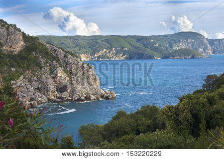 View Of Paleokastritsa Bay From Above