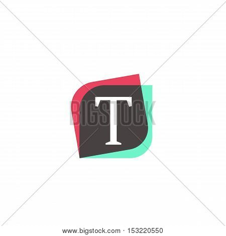 T letter sign retro company symbol vector design
