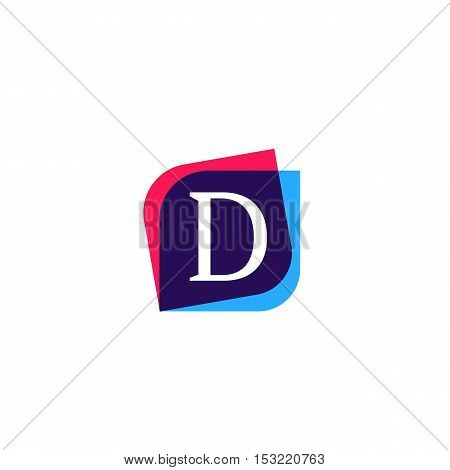 D letter sign company symbol vector design