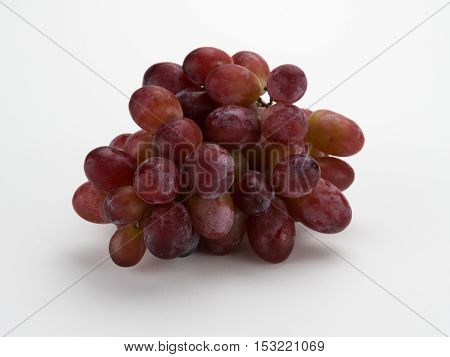 Grapes in a bunch isolated on white