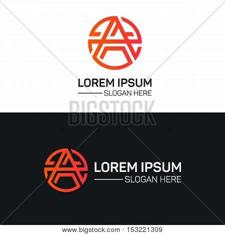 A letter logo company sign vector design