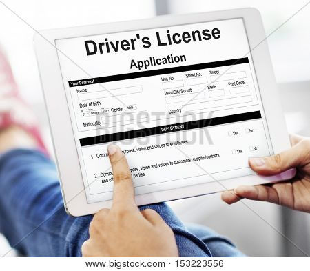 Driver'??s License Application Permission Form Concept