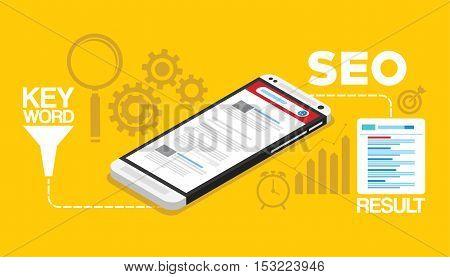 search engine optimization concept vector illustration design