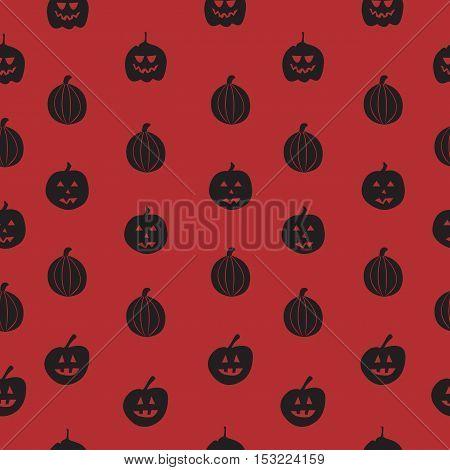 Seamless Pattern With Pumpkin Background