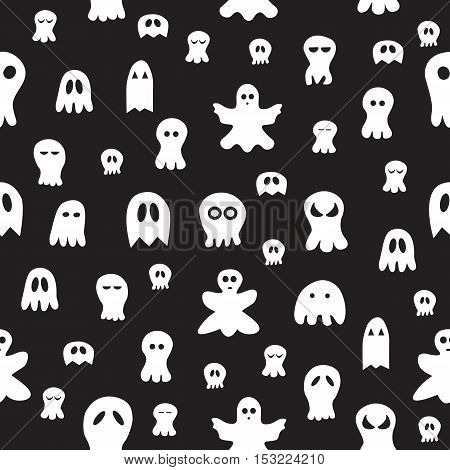 Seamless Ghost Pattern.