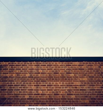 Brick Wall Concrete Block Concept