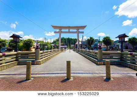 Symmetrical Torii Gate Takayama Bridge H