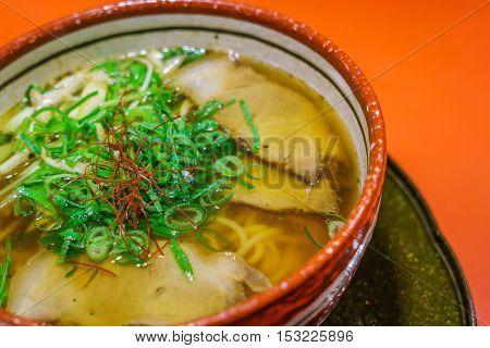 Japanese ramen noodle on table