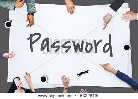 Password Security Protection Safe Concept