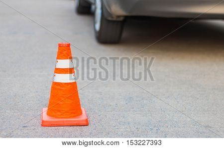 Traffic cone for traffic safety on the road
