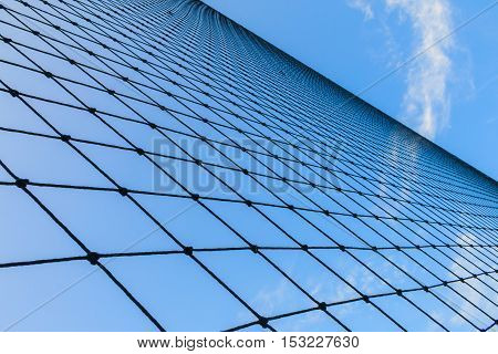 net and blue sky texture of net