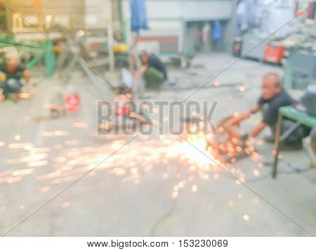 Businessmen blur in the workplace.Industrial worker working on machine in factory.professional meeting silhouette life sunset crane group concept helmet progress teamwork win partnership finance
