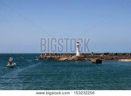 View of Wollongong Breakwater Lighthouse during daytime