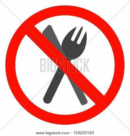 No eating sign isolated fastfood meal not restricted