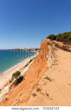 Praia da Falesia beach in Algarve, Portugal
