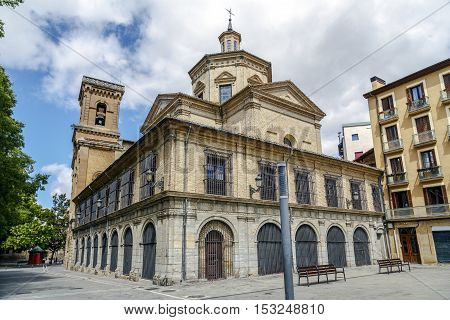 The church of San Lorenzo in the Old Town of the city of Pamplona Navarre Spain. It houses the San Fermin Chapel