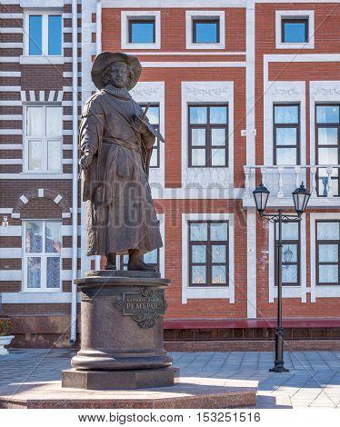 Rembrandt monument. Yoshkar - Ola city, Russia