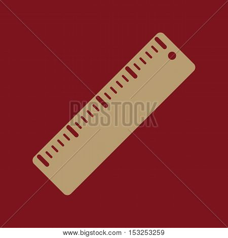 The ruler icon. Ruler symbol. Flat Vector illustration