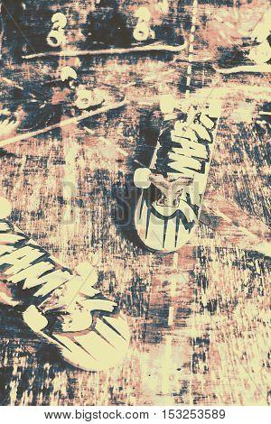 Grunge Skateboard Poster Art