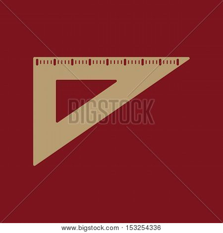 The triangle icon. Triangle symbol. Flat Vector illustration