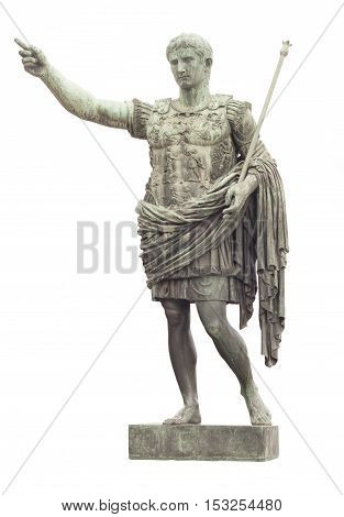 statue of Caesar in Rome isolated on white