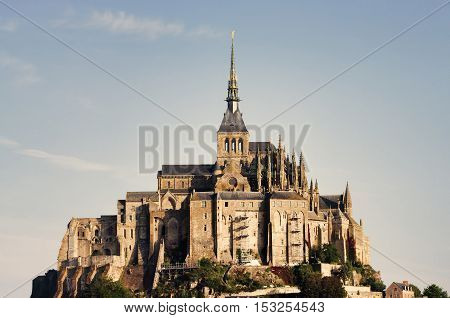 Mont Saint Michel castle in Normandy France