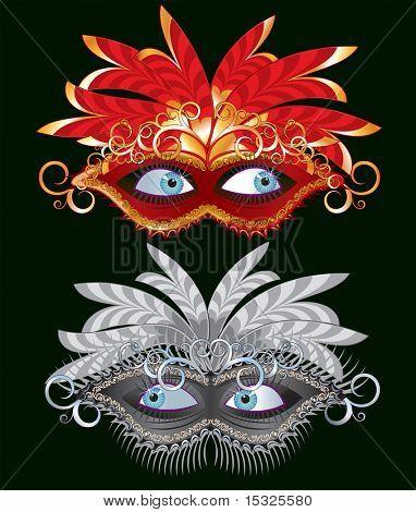 Vector carnival mask-carnaval illustration series