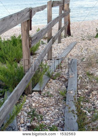 Beach Fence By The Sea