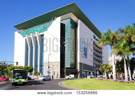 Santa Cruz de Tenerife Canary Islands SPAIN Shopping center El Corte Ingles. June 2 2016 This is is the biggest department store group in Europe with a wide range of designer boutiques.