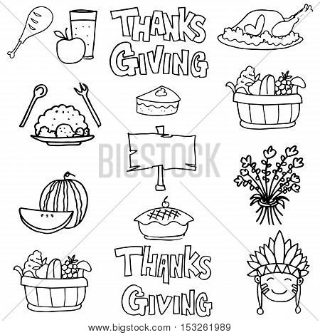 Hand draw element on doodles stock vector illustration