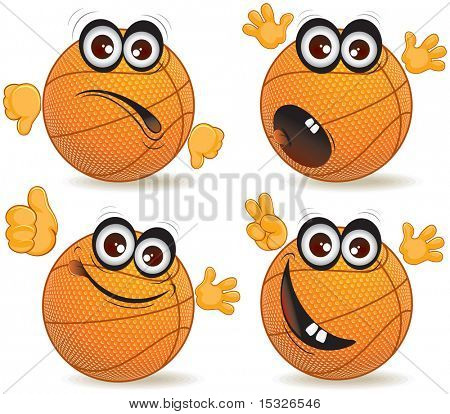 Cartoon basketball fan vector poster