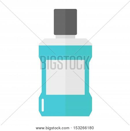Dental care symbols toothpaste, toothbrush and dental floss. Dental floss, teeth, mouth, tooth paste on white background