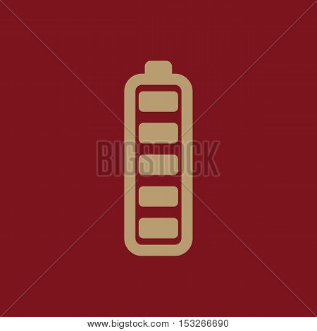 The battery icon. Accumulator symbol. Flat Vector illustration