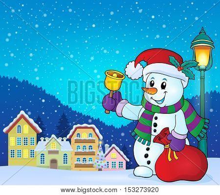 Christmas snowman topic image 7 - eps10 vector illustration.