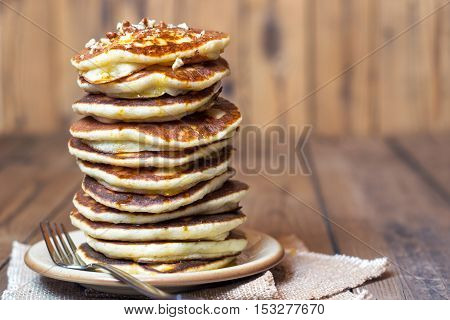 High Stack Of Pancakes.
