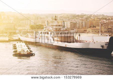 Wharf Villa San Giovanni Strait Of Sicily