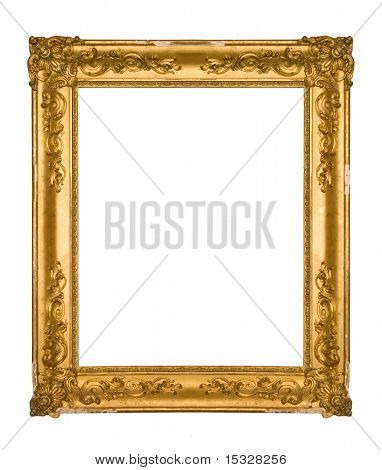 Chipped vintage gold ornate frame