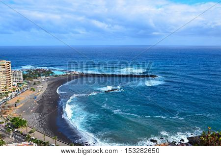 View from mirador de La Paz Puerto de la Cruz Tenerife Canary island