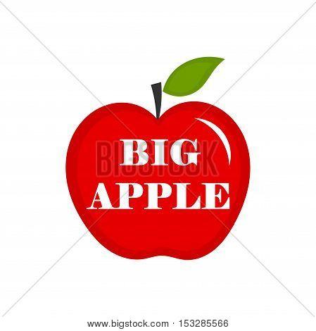 Big apple symbol of New York City illustration