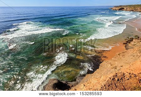 Summer Atlantic Ocean Coast. Algarve, Portugal.