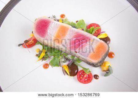 Steak layer fish / SalmonTuna and seabass fish Steak
