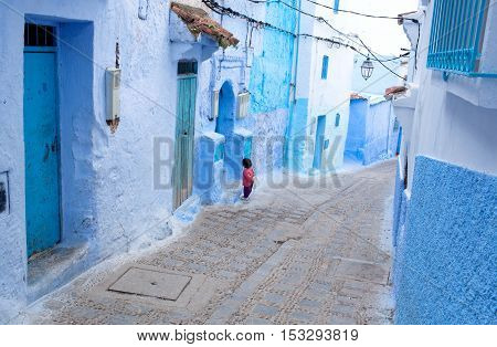 Beautiful Blue Medina Of Chefchaouen City In Morocco, Africa