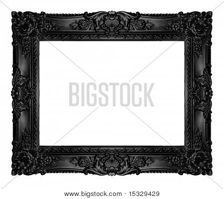 Black ornate frame