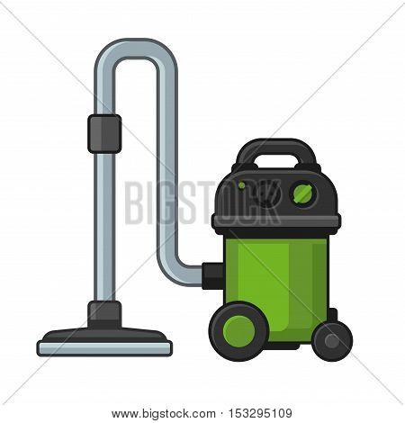 Vacuum Cleaner on White Background. Vector illustration