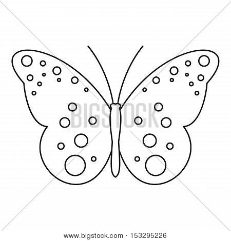 Butterfly with spot icon. Outline illustration of butterfly with spot vector icon for web