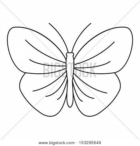Butterfly with strip icon. Outline illustration of butterfly with strip vector icon for web