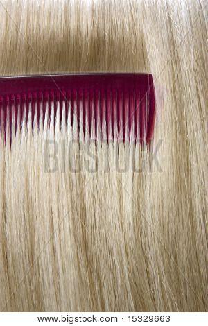 Sleek hair closeup