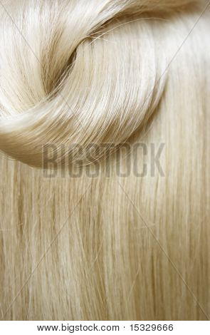 Sleek hair closeup poster